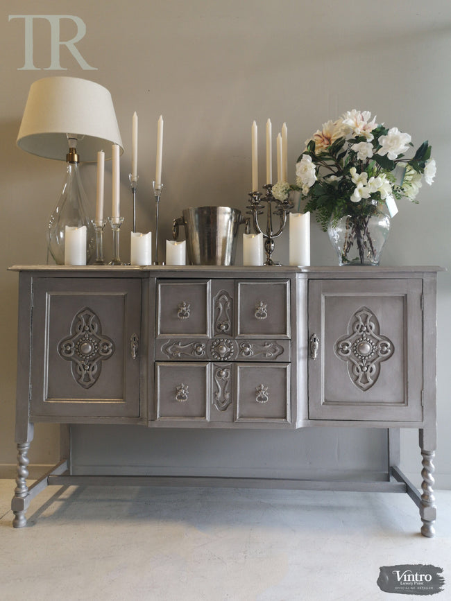 Cassandra Hand painted Antique Sideboard