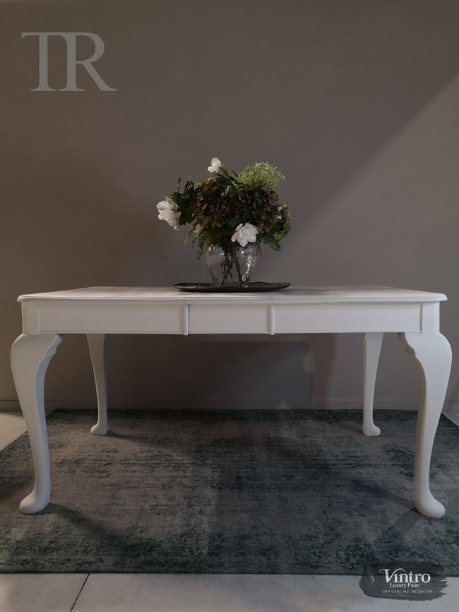 Commissioned Dining Table in Vintro No Seal White
