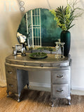 Khloe : Aged brushed silver dressing table