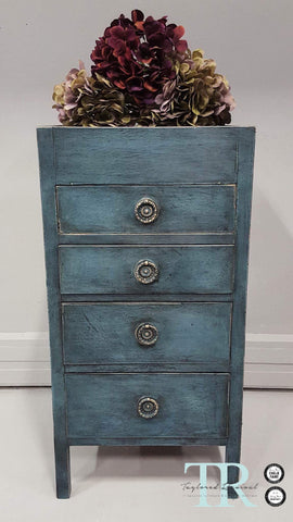 Louise: Hand painted small set of drawers