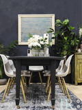 Nila : Deep blue dining table