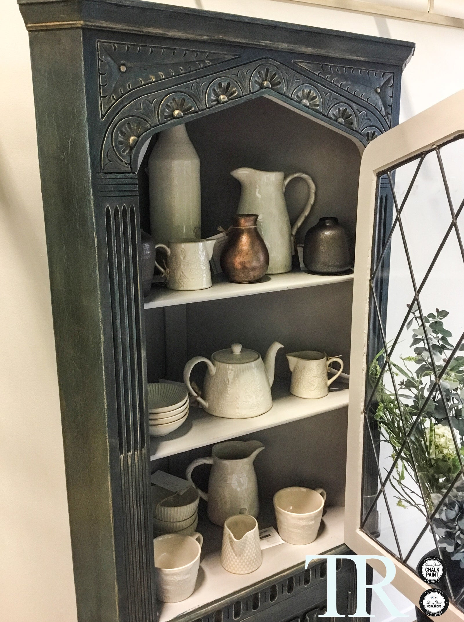 Commissioned Corner Unit in Aubusson Blue