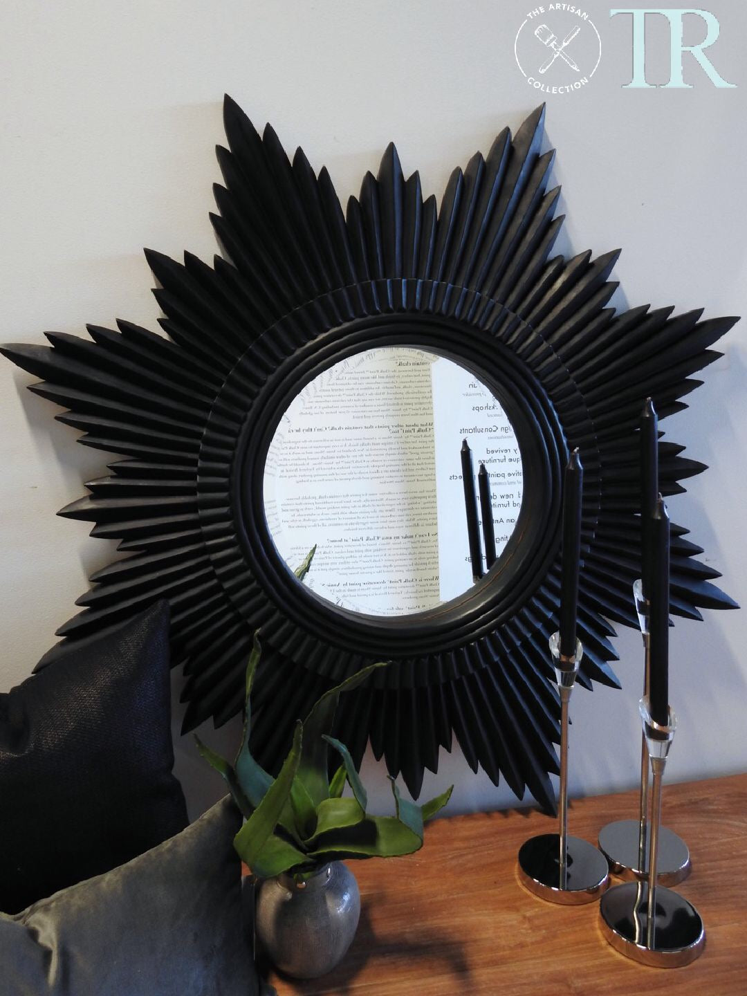 Agatha- Midnight Sunburst Mirror