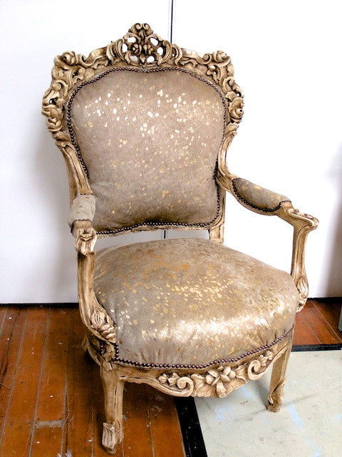 Commissioned Solid carved Antique style chair