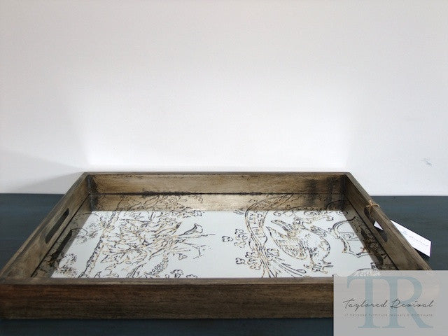Large Rustic mirrored tray
