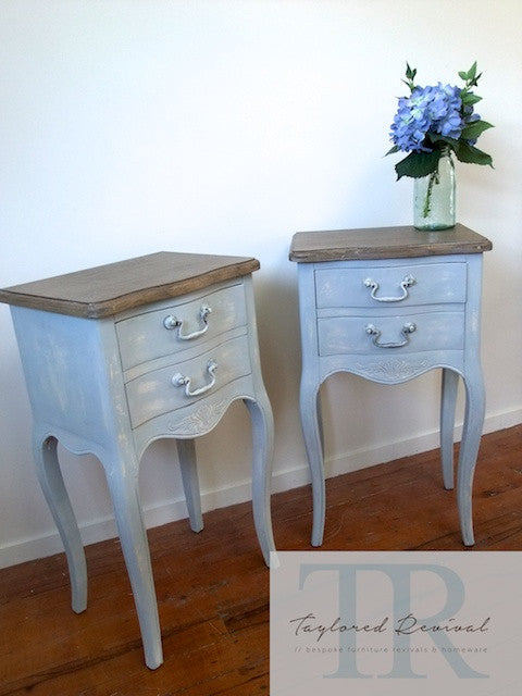 Sophie & Michelle- Pair of french style bedside tables