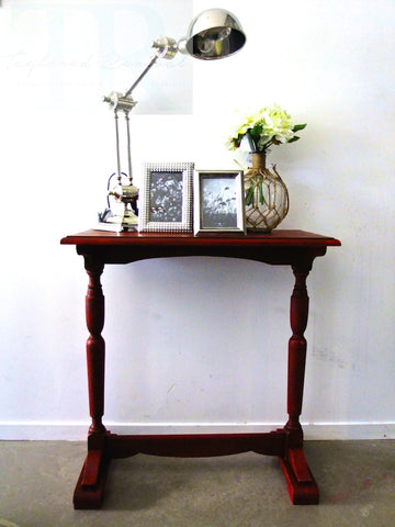 Nicollette: Small burgandy hall table