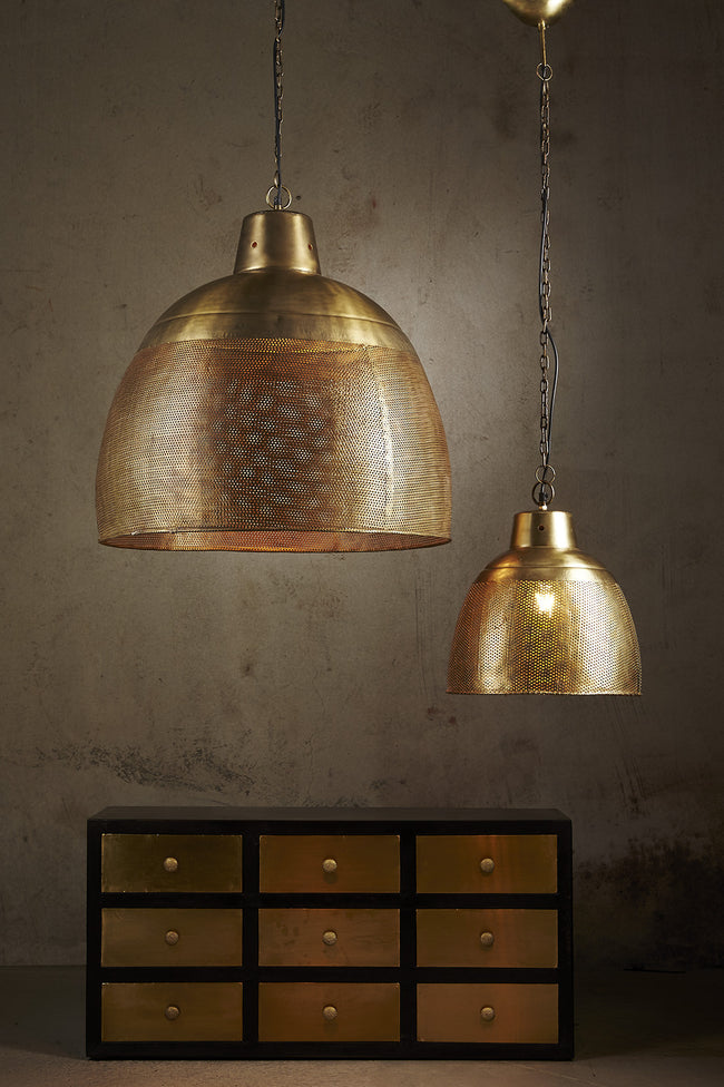 Riva Brass Perforated Pendant
