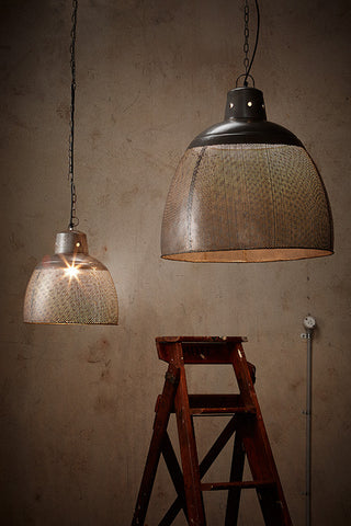 Riva Perforated Grey Pendant