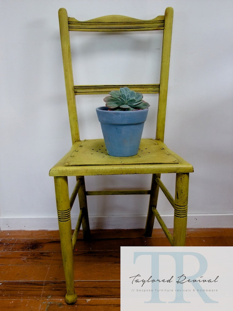 Sally -Character wooden chair in english yellow