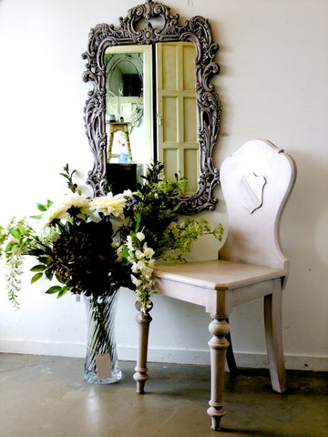 Commissioned Chair and Mirror in Paloma and Antoinette
