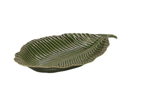 Ceramic Green Leaf dish