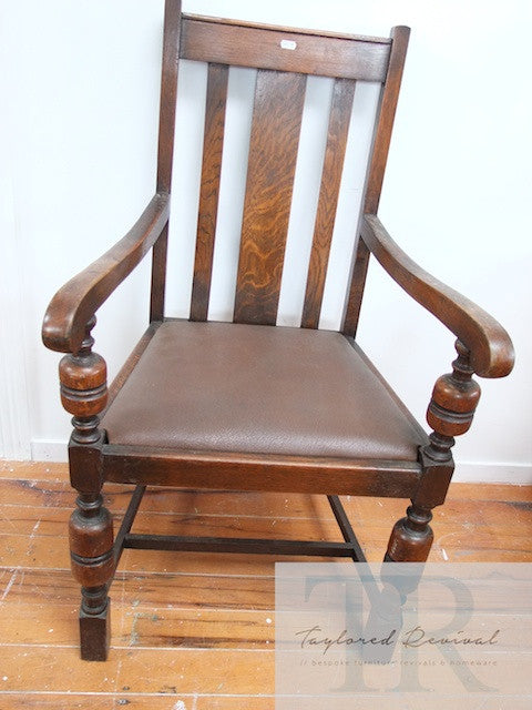 Large Oak Armchair