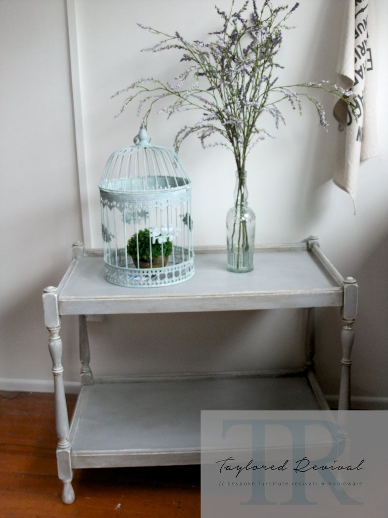 Commissioned Tea Trolley in Paris Grey and Old White