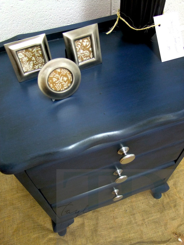 Commissioned Bedside in Napoleonic Blue