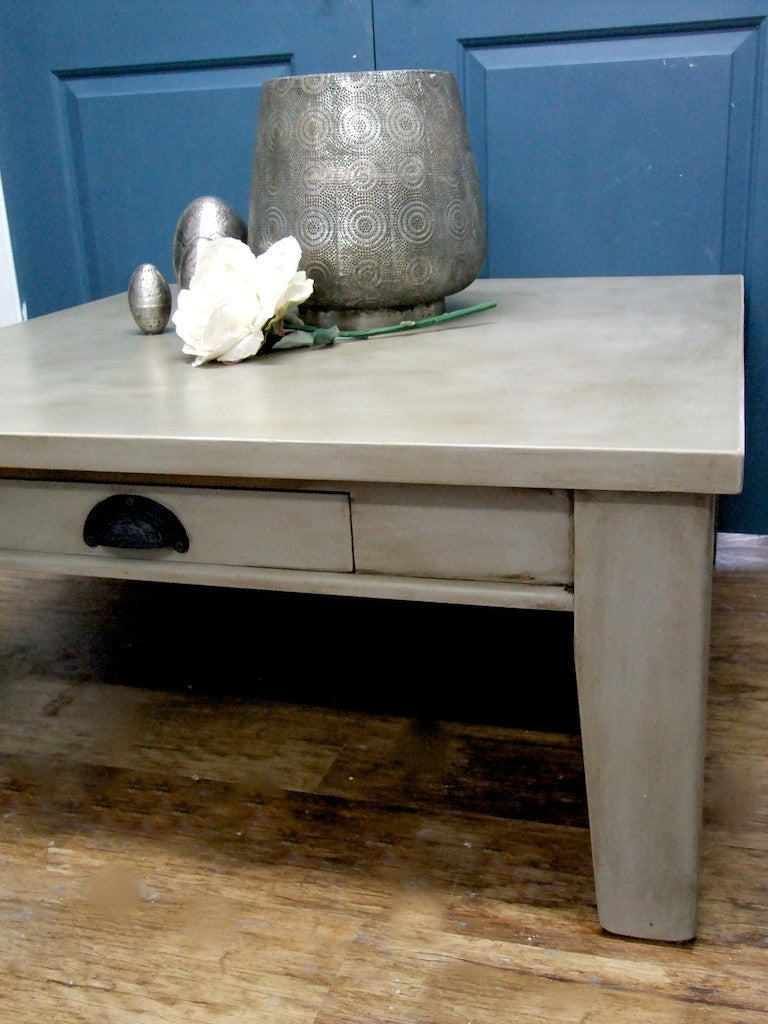 Commissioned Coffee Table in French Linen