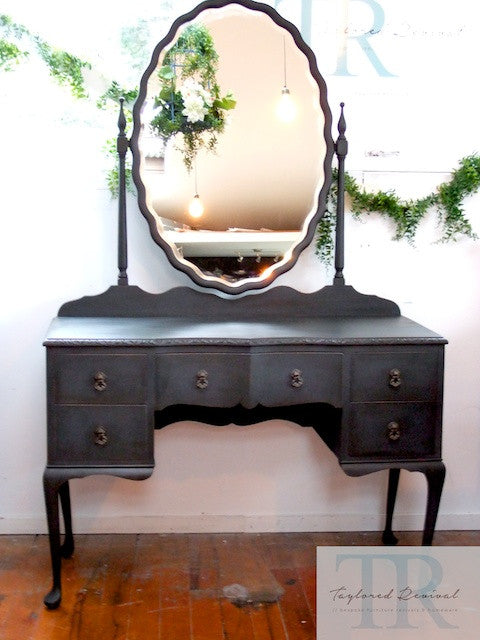 Commissioned Antique Dressing table in Graphite