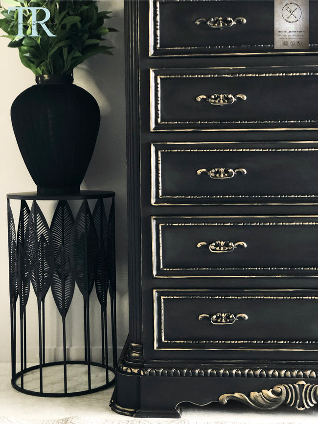 Commissioned Chest of drawers in Midnight & Black wax