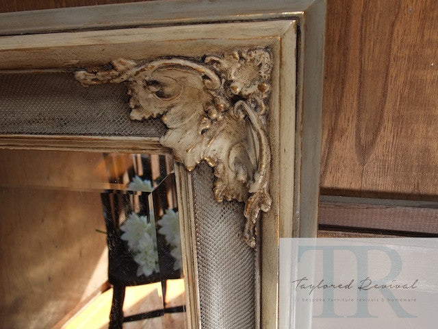 Commissioned french provincial inspired mirror