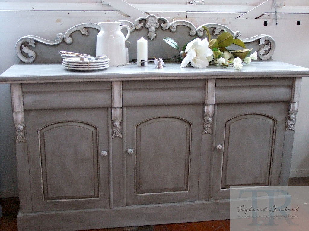Commissioned Sideboard in Paris Grey and White