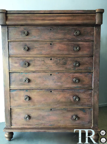 Giselle: Large Scotch Chest of drawers circa 1860-1900