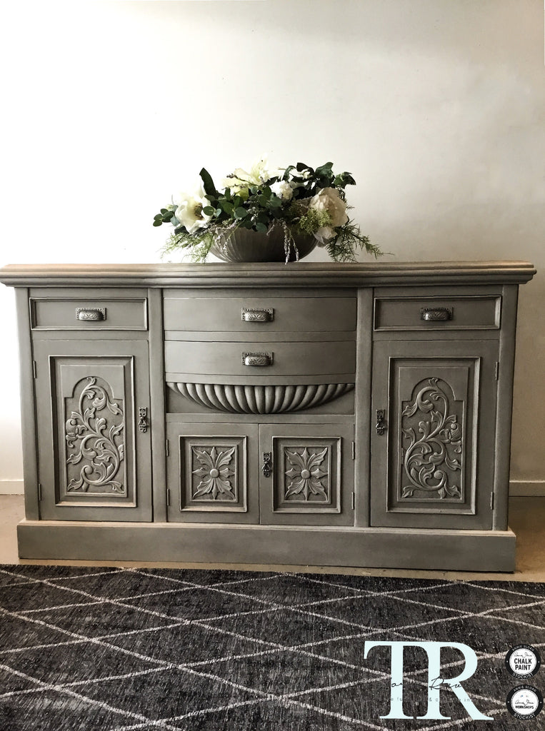 Commissioned sideboard in French Linen