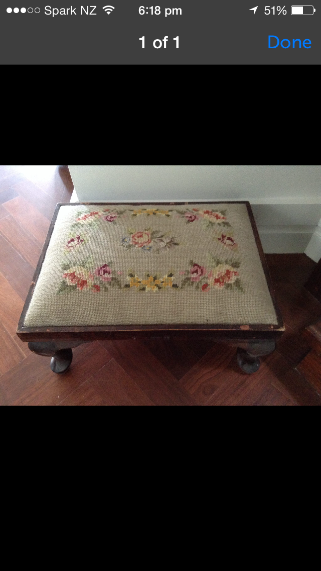 Commissioned foot stool