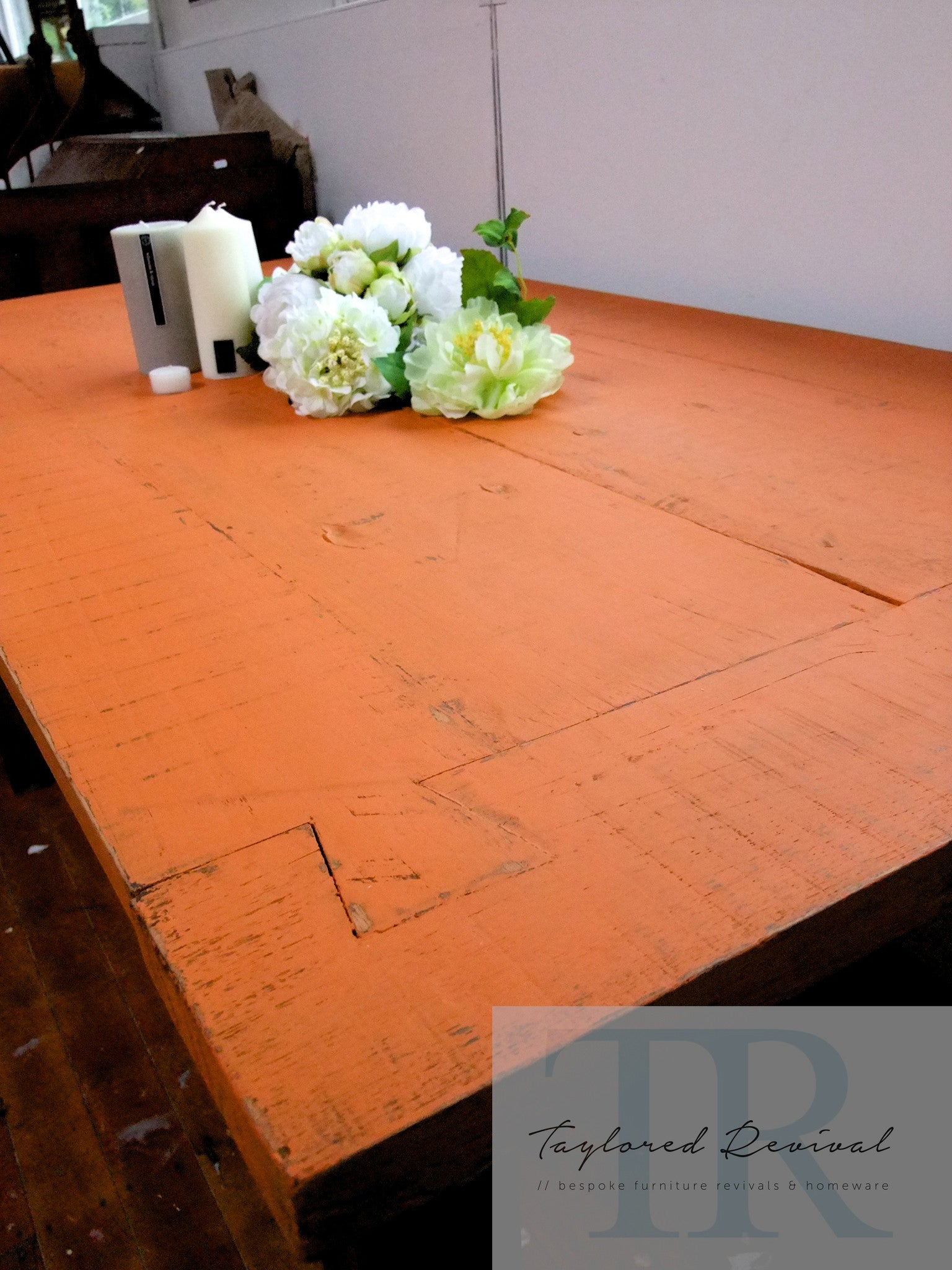 Commissioned Barcelona Orange Table