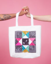 Load image into Gallery viewer, confetti patchwork tote