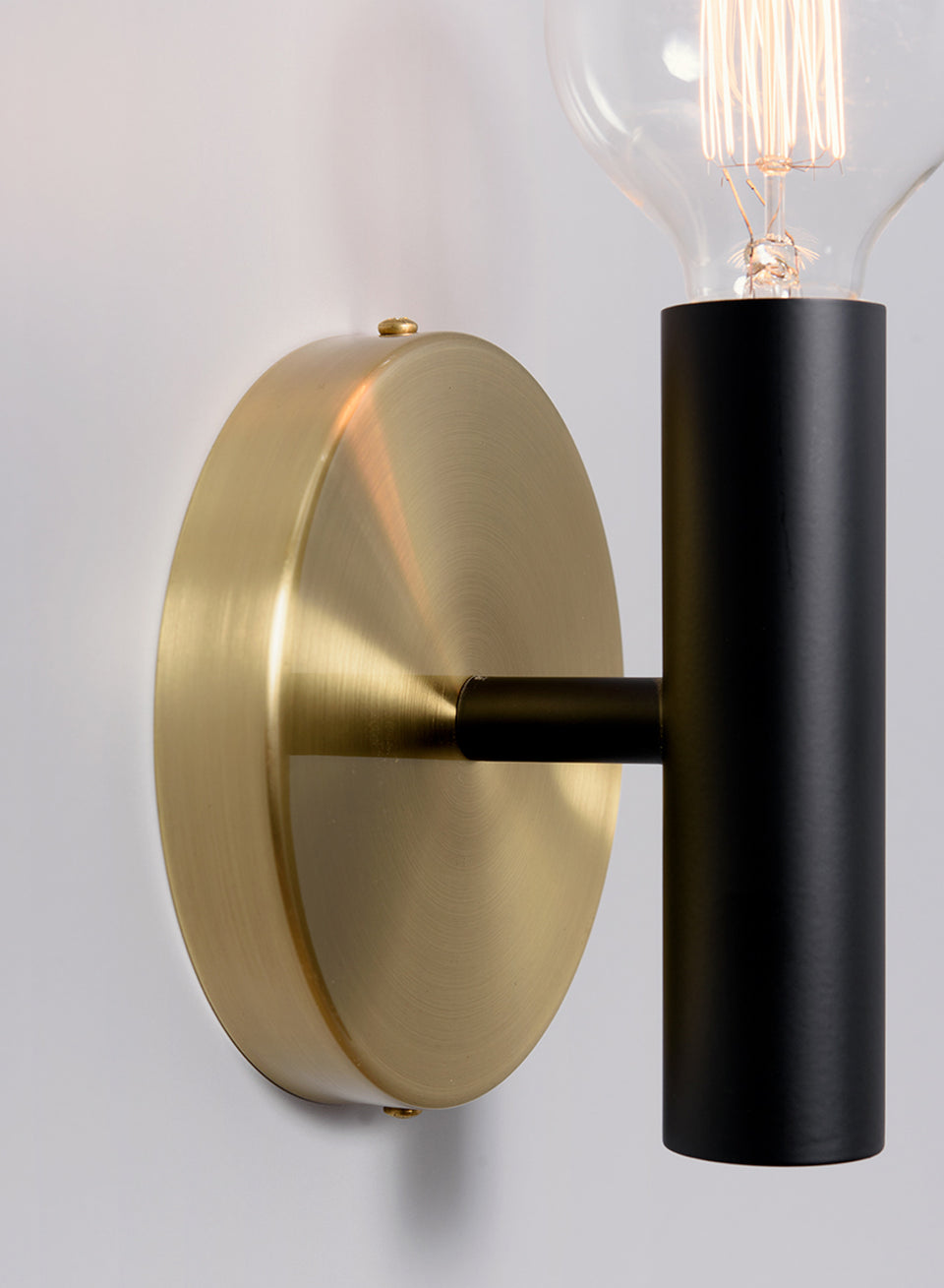 EDISON NER BIG ROSETA black+brass