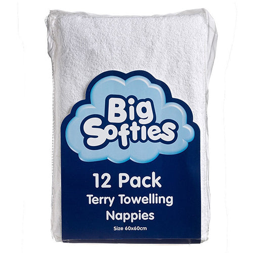 Big Sofites 12 pack Terry Towelling Nappies