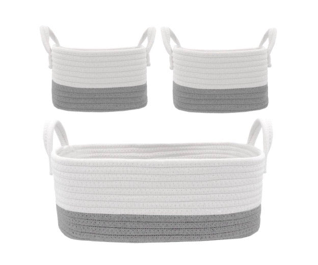 Living Textiles 3 piece storage baskets