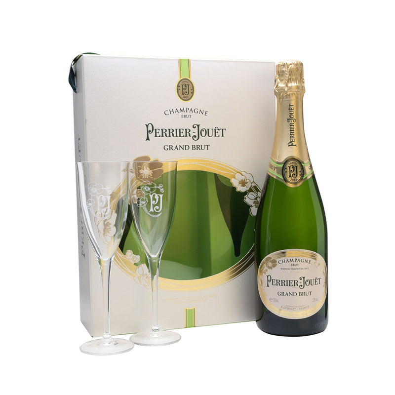 Perrier-Jouet Grand Brut Champagne Gift Set