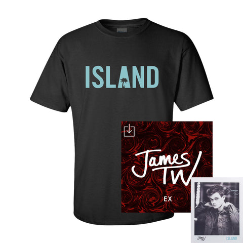James TW - Ex Digital Download + Island T-Shirt + Autographed Poster