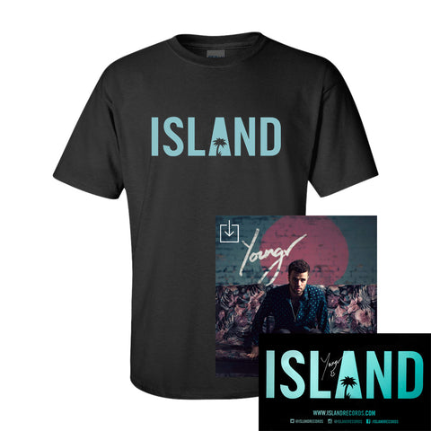 Youngr - Out Of My System Digital Download + Island T-Shirt + Autographed Poster