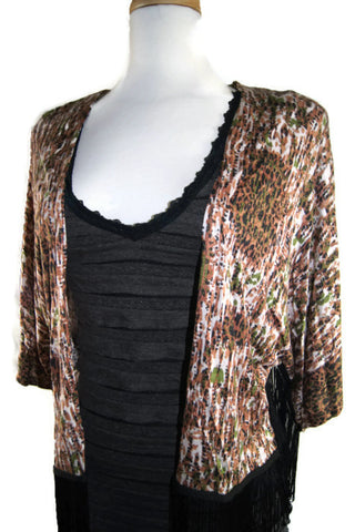 Artsy Open Cardigan with Fringes