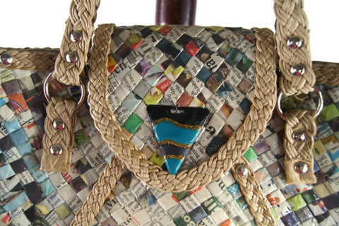 Recycled Bag Made of Newspapers