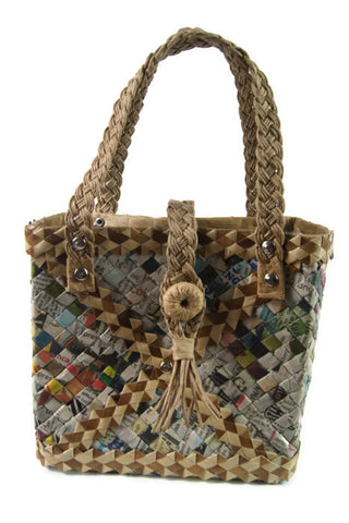 Recycled Bags Made of Newspapers