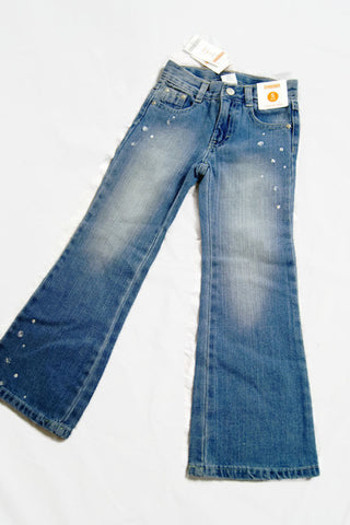 GYMBOREE 5 Slim Embellished Girls Denim Pants Adjustable Waist