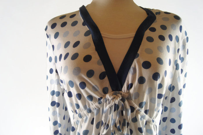 Novelty Knit Top Polka Dots