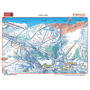 Flims Laax Wipeout Plan des Pistes