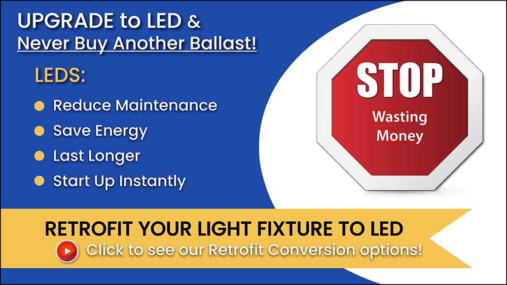 Upgrade your light fixture to LED
