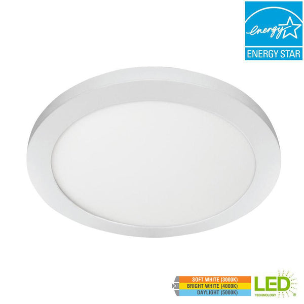 11 in. Round Edge-Lit 12.5W Dimmable Color Changing LED Flushmount Flat Panel Light - ORILIS LED LIGHTING SOLUTIONS