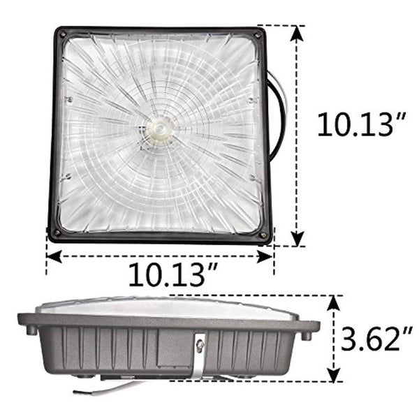 1000 LED Waterproof Outdoor Canopy Ceiling Light Fixture, 5300lm, 5000K - ORILIS LED LIGHTING SOLUTIONS