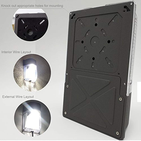 LED Wall Pack Waterproof Outdoor Light, 3000lm with Photocell Sensor, 5000K - ORILIS LED LIGHTING SOLUTIONS