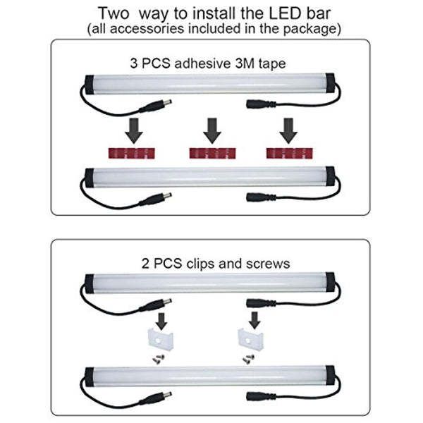 1 Ft. Under Cabinet Dimmable LED Lighting Kit with Plugin Cord for Kitchen [3 Bar Kit] - ORILIS LED LIGHTING SOLUTIONS