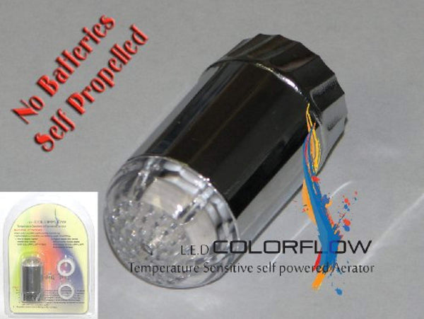 COLORFLOW Temperature Sensitive LED Faucet Light - Hydroelectric - ORILIS LED LIGHTING SOLUTIONS