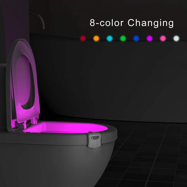 LED Toilet Bowl Light, Motion Sensor 8-Color Changing Waterproof Nightlight - ORILIS LED LIGHTING SOLUTIONS