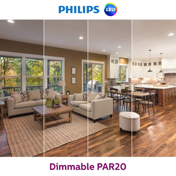 Philips 50W Equivalent PAR20 Glass LED Light Bulb Daylight 5000K - ORILIS LED LIGHTING SOLUTIONS