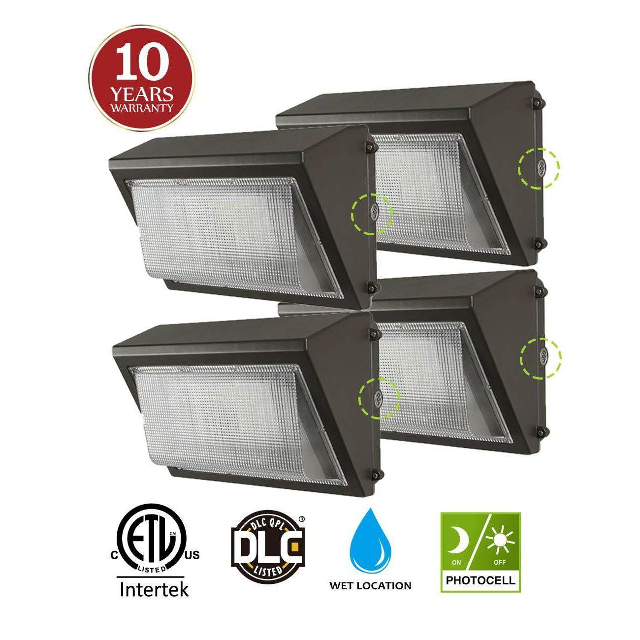 LED Wall Pack Waterproof Outdoor Fixture with Photocell